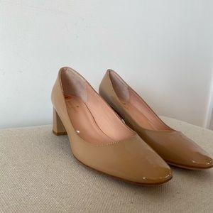 NWOT Kate Spade Kylah Pumps Nude Patent Leather